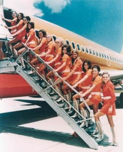 stewardess+orange+dress